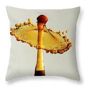 Orange Crown 9 Throw Pillow