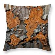 Orange Decay Throw Pillow