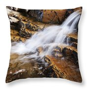 Orange Falls Throw Pillow