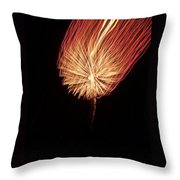 Orange Firework Throw Pillow