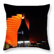 Orange Fountain Downtown Los Angeles Throw Pillow