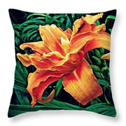 Orange Frenzy Throw Pillow