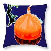 Orange Globe Throw Pillow