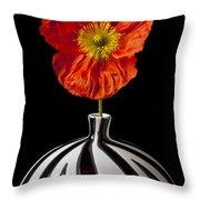 Orange Iceland Poppy Throw Pillow
