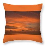Orange Insanity Sunset Venice Florida Throw Pillow