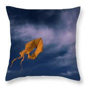 Orange Kite Throw Pillow