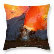 Orange Kiss Throw Pillow