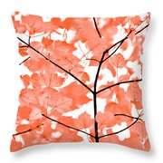 Orange Leaves Melody  Throw Pillow