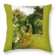 Orange Lilies Throw Pillow