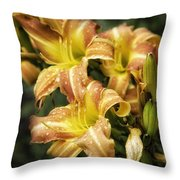 Orange Lilies Portrait Throw Pillow