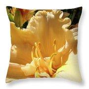 Orange Lily Flower Floral Art Prints Baslee Troutman Throw Pillow