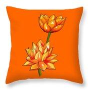 Lotus Flower Tattoo Design Inspired Watercolour Throw Pillow