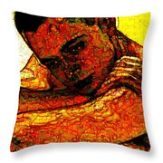 Orange Man Throw Pillow