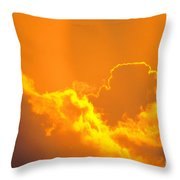 Orange Misty Sky Throw Pillow