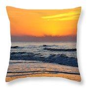 Orange Morn Throw Pillow