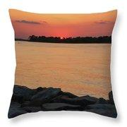 Orange Nite Sky  Throw Pillow