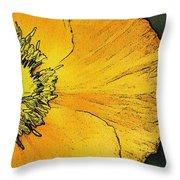 Orange Oriental Poppy Throw Pillow
