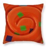 Orange Overload Throw Pillow