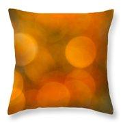 Orange Peel Throw Pillow