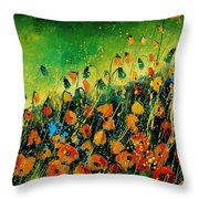 Orange Poppies 459080 Throw Pillow