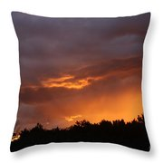 Orange Rays Throw Pillow