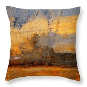 Orange Reluctance Throw Pillow