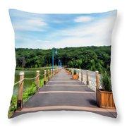 Orange Reservoir Throw Pillow