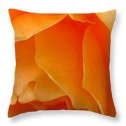 Orange Rose Side View Throw Pillow