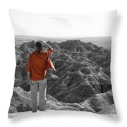 Orange Shirt Throw Pillow