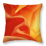 Orange Silk Throw Pillow