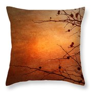Orange Simplicity Throw Pillow