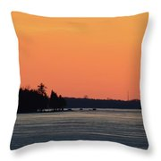 Orange Sky Above The Trees  Throw Pillow