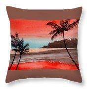 Orange Sky Of Kauai Throw Pillow