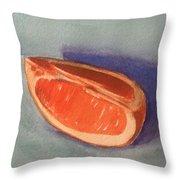 Orange Slice 2 Throw Pillow