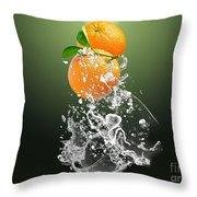 Orange Splash Throw Pillow
