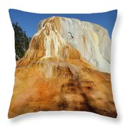 Orange Spring Mound Throw Pillow