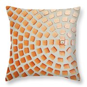 Orange Squares Throw Pillow