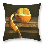 Orange Still Life Throw Pillow