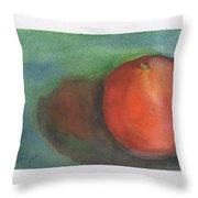 Orange Still Life Throw Pillow