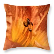 Orange Streaming Throw Pillow