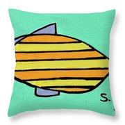 Orange Stripes Throw Pillow