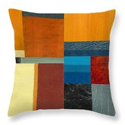 Orange Study With Compliments 3.0 Throw Pillow