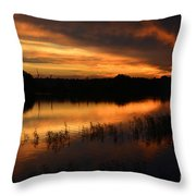 Orange Sunrise Throw Pillow