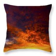 Orange Sunset 1.1 Throw Pillow