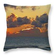 Orange Sunset Oregon Throw Pillow