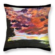 Orange Sunset Spectator Throw Pillow