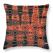 Orange Sweet Chilli Peppers Throw Pillow