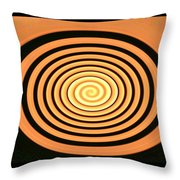 Orange Swirl Throw Pillow