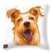 Orange Terrier Mix 2989 - Wb Throw Pillow