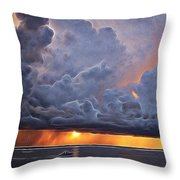 Orange Trouble Throw Pillow
